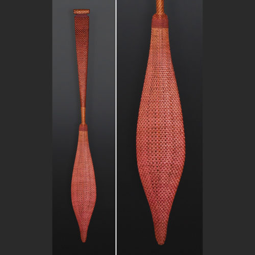 Haida Weave Paul Rowley Haida paddle Yellow cedar cedar bark 64 x 8 $3900