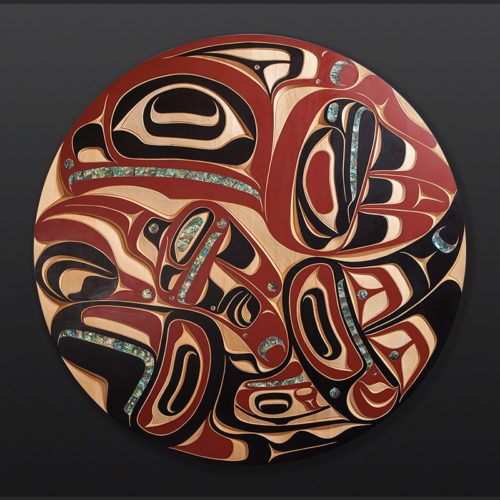 Thunderbird Humpback Whale Moy Sutherland Nuu-Chah-Nulth Carved panel 9800