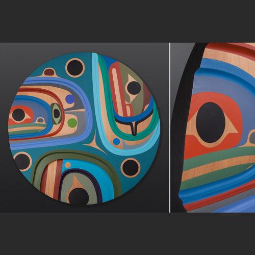 The River Steve Smith Carved panel Dlakwagila Oweekeno 6400