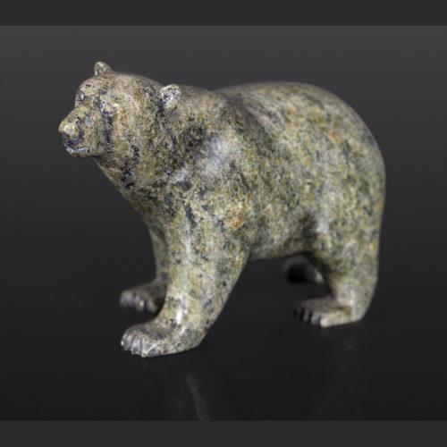 Traveling Bear Timothy Pee Inuit Serpentine 4½ x 6¼ x 2¾ $550