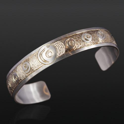 """Salmon Eggs Bracelet Jennifer Younger Tlingit 1/2""""silver $400 northwest coast jewelry"""