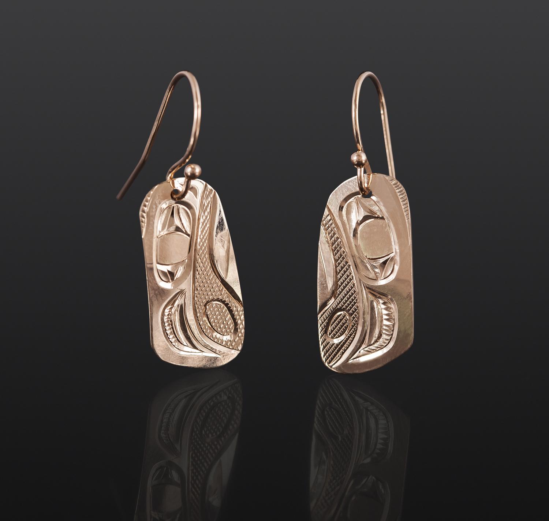 Eagle Earrings Corrine Hunt Kwakwaka'wakw 14k gold $450