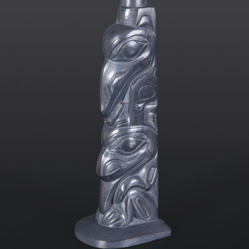 "Raven and Bear Gary Minaker-Russ Haida Argillite carving 1¾"" x 1¼"" x 7½"" $4400"