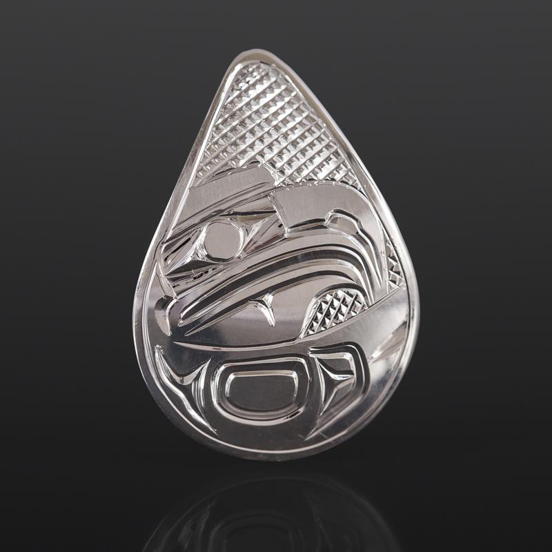 Eagle Pendant Bill Bedard Haida Silver $225