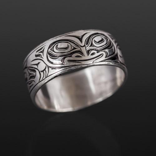 frog ringJoe wilson kwakwaka'wakw silver $240 northwest coast jewelry