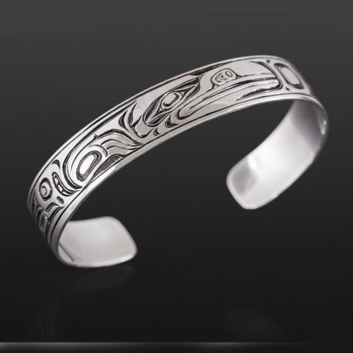 raven bracelet Joe wilson kwakwaka'wakw 1/2 350 northwest coast bracelet jewelry