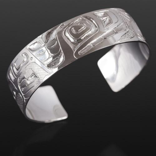 """Whale Clan Bracelet Henry Green Tsimshian Silver 6"""" x ¾"""" $550"""