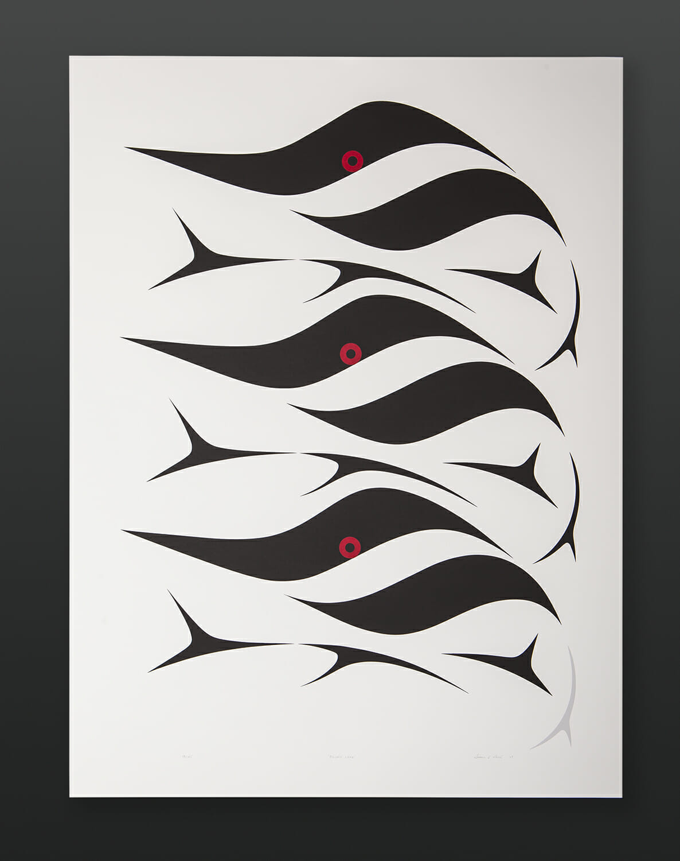 Bluey Lake Susan Point Coast Salish Serigraph Silkscreen 36 x 27 500