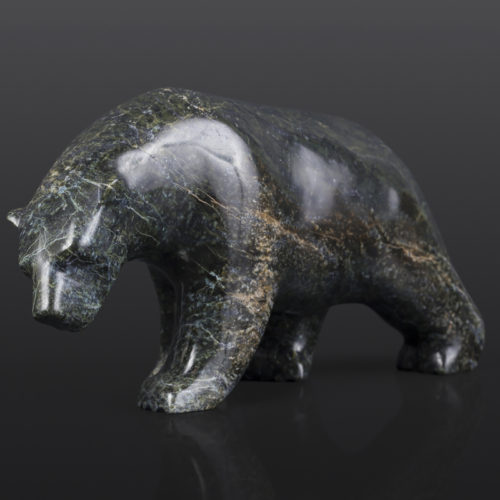 "Polar Bear (13973) x Tony Ohotaq Inuit Serpentine 9½"" x 3"" x 5"" $850"