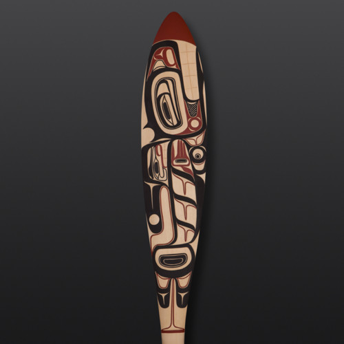 Orca and the Salmon David Boxley Tsimshian Yellow cedar, paint