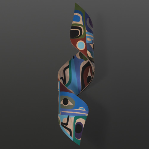 "For Love Steve Smith Dlakwagila Oweekeno Turned maple, paint, custom mount 32"" x 9"" x 9"" $6400"