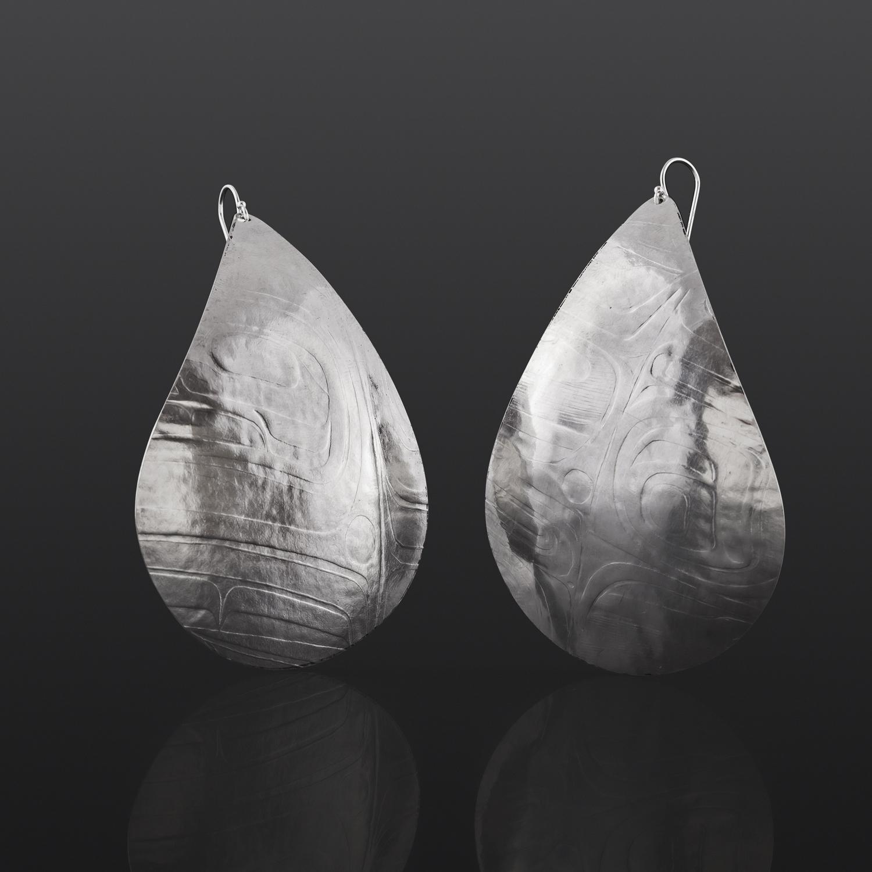 Gathered Water Earrings Gwaai Edenshaw Haida Silver $170