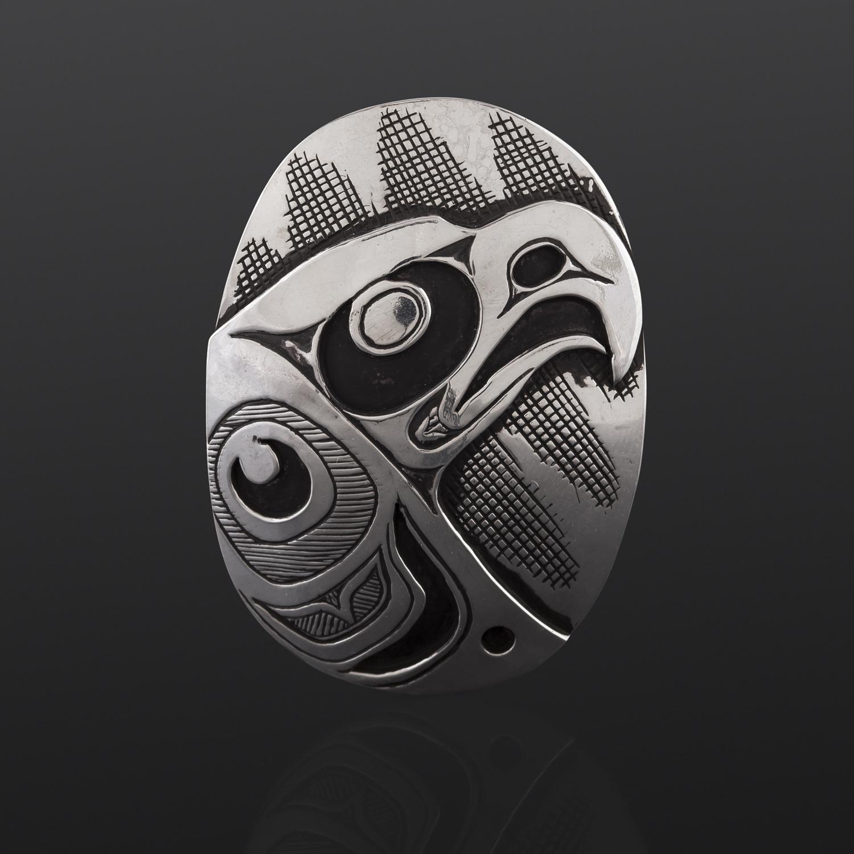 Eagle Pendant Kelvin Thompson Saulteaux/Haisla Silver $400