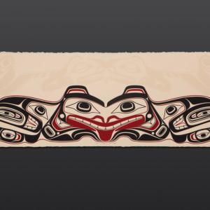 "Bear Stepping Into Itself Cori Savard Haida limited edition serigraph 29 1⁄2"" W x 10 1⁄2"" H $200"