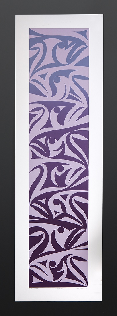 "Three Rivers State II Susan Point Coast Salish Silkscreen IV/V 40"" x 12"" $750"