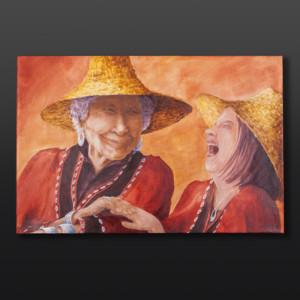 "Jean Taylor Tlingit Original painting – acrylic on canvas 36"" x 24"" $2160"