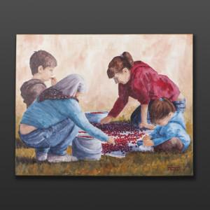 "Jean Taylor Tlingit Original painting – acrylic on canvas 24"" x 30"" $1800"