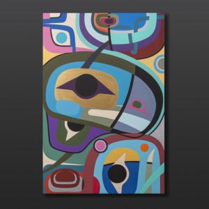 "Awakening Steve Smith Dla'kwagila Oweekeno Acrylic on birch panel 24""x 36"" 3500"