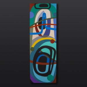 "Orca Fin Steve Smith - Dla'kwagila Oweekeno Acrylic on birch panel 36"" x 12"" $1650"