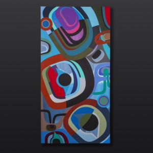"Much Love Steve Smith Dla'kwagila Oweekeno Acrylic on birch panel 24"" x 48"" $5000 northwest coast native art contemporary art"