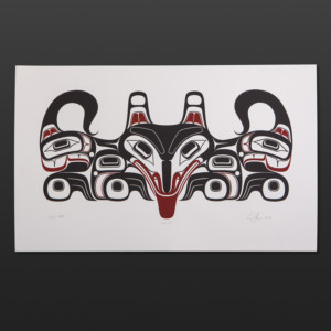 Ghuuts (Wolf) Ernest Swanson Haida limited edition serigraph $300