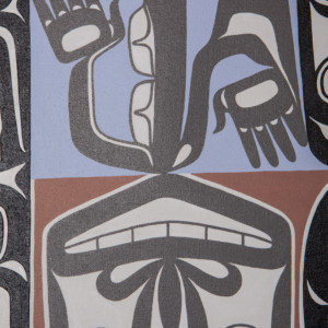 "One Gray Hair Alison Marks Tlingit Acrylic on canvas 20"" x 16"" $1800"