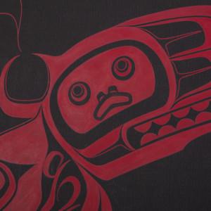 "Soul Catcher Shawn Aster Tsimshian Acrylic on canvas 24"" x 18"" $1200"