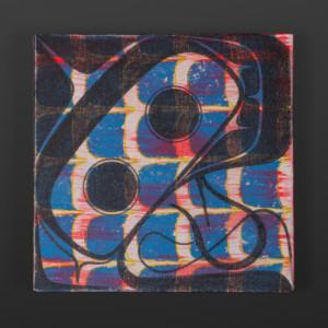 "Halibut Clinton Work Kwakwaka'wakw Acrylic on canvas 10"" x 10"" x 1½"" $550"