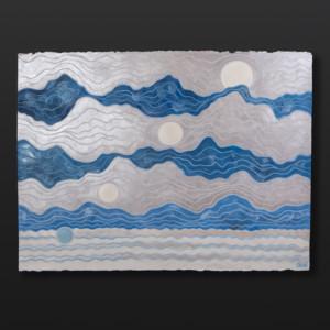 "Glacial SunMoon Crystal Worl Tlingit Guache on paper 30"" x 22½"" $2500"