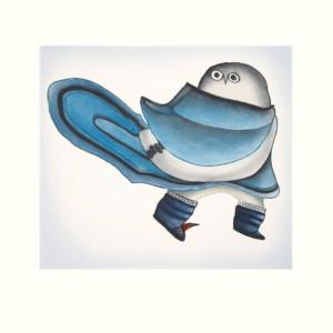 NINGIUKULU TEEVEE Owl in Amauti Etching & Aquatint Printer: Studio PM 66 x 69 cm; 26 x 27 1/4 in. $640 US