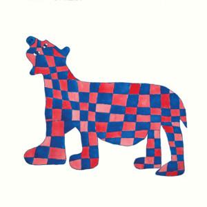 SAIMAIYU AKESUK Checkered Bear Etching, Aquatint & Hand Painting Printer: Studio PM 85.8 x 80 cm; 33 3/4 x 31 1/2 in. $720 US