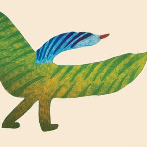 SAIMAIYU AKESUK Bird on Parade 2014 Lithograph Printer: Nujalia Quvianaqtuliaq 56.5 x 76.5 cm; 22 1/4 x 30 in. $560 US