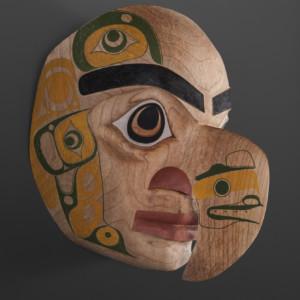 "Noble Eagle Shawn Aster Tsimshian Alder, paint 11"" x 10"" x 7"" $3600"