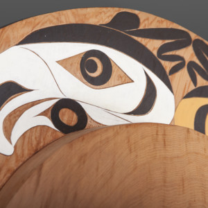 """Four Directions Tim Paul Nuu-Chah-Nulth Red cedar, paint 23"""" x 21"""" x 5"""" $4800"""