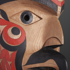 "No Title Eagle Tim Paul Nuu-Chah-Nulth Red cedar, paint 19"" x 12"" x 8"" $4200"