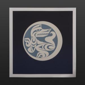 "White Wolf's New Moon Maynard Johnny Jr. Coast Salish Limited Edition Serigraph 20"" x 21"" $250"