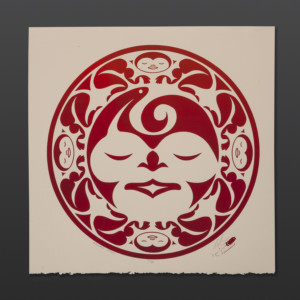 "Weaver's Moon - Red Peter Boome Coast Salish Limited Edition Serigraph 15"" x 15"" $100"