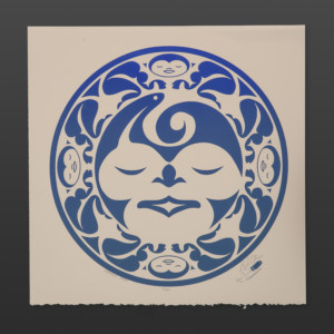 """Weaver's Moon - Blue Peter Boome Coast Salish Limited Edition Serigraph 15"""" x 15"""" $100"""