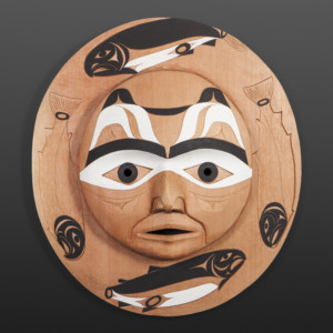 Salmon Moon Tim Paul Nuu-Chah-Nulth Red cedar, paint