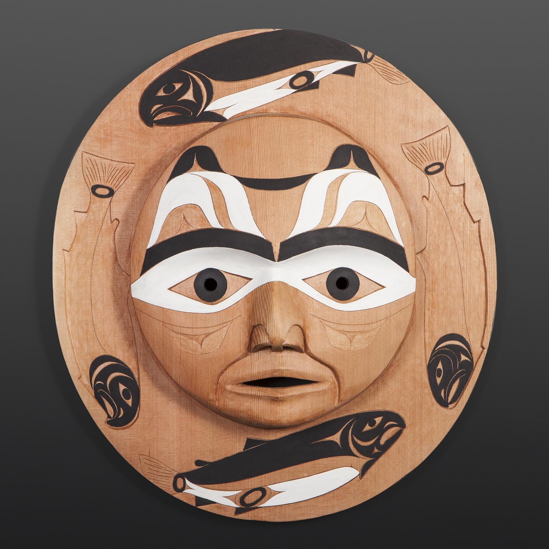 Salmon Moon Tim Paul Nuu-Chah-Nulth Red cedar, paint