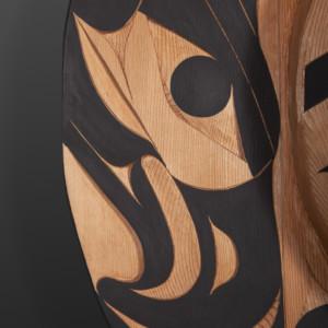 Panel Tim Paul Nuu-Chah-Nulth Red cedar, paint