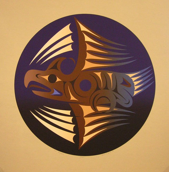 """Legacy Susan Point c. 2003 Limited Edition Serigraph 26"""" x 26"""""""