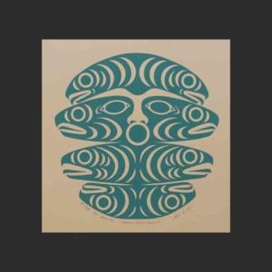 "Swanisit Brings Salmon II Susan Point c. 1990 Serigraph #II/XIII Artist Proof, #III/XIII Artist Proof 11.25""W x 11.75""H"
