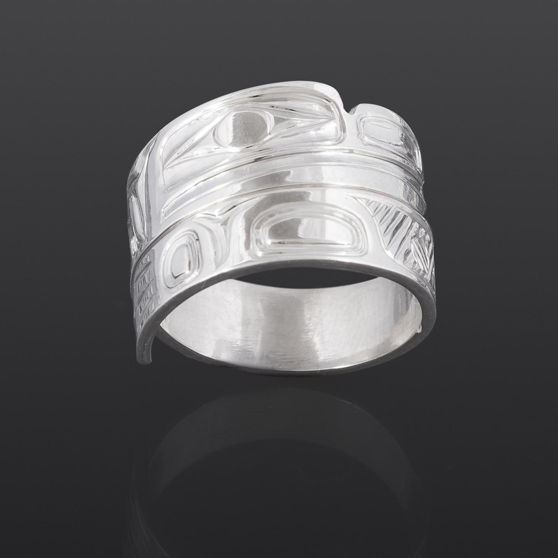 Frog Wrap Ring William Bedard Haida Silver