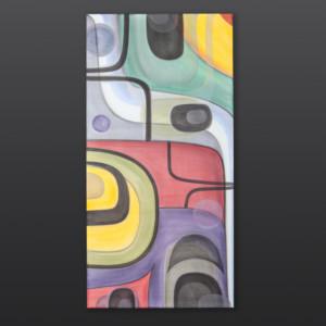 "Steve Smith Dla'kwagila Oweekeno Acrylic on canvas 18"" x 36"" $1700"