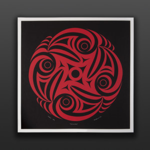 """Turning Point Kelly Cannell Coast Salish Serigraph 30"""" x 30½"""" $400"""