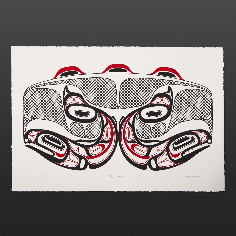 Salmon Season Clifton Guthrie Tsimshian limited edition serigraph $150
