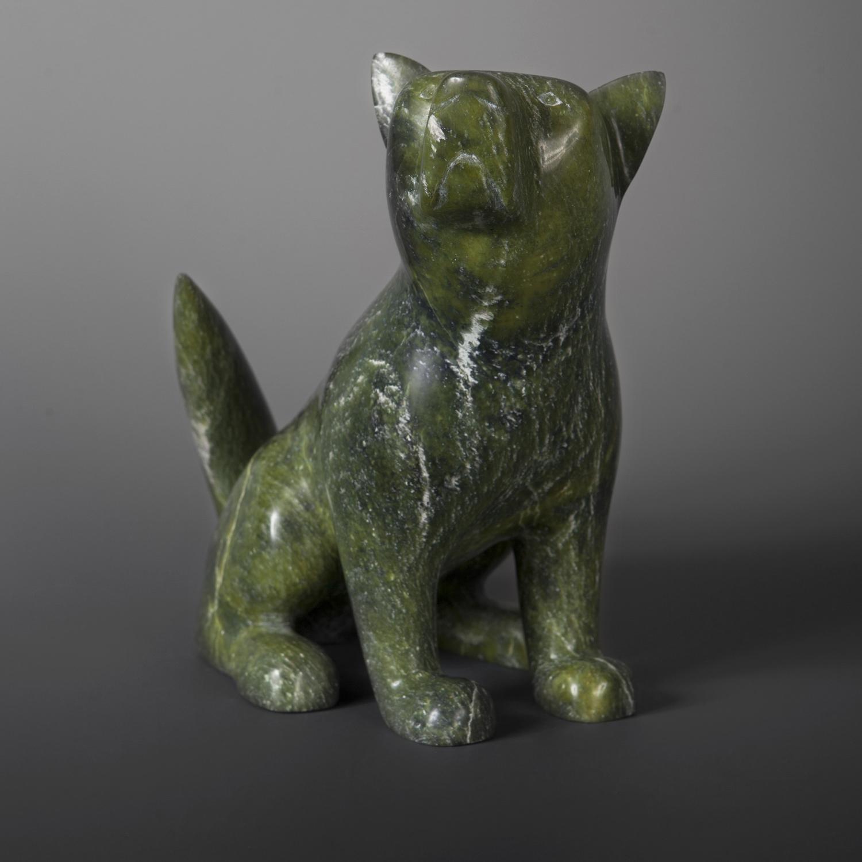 """Best Friend (Dog) Ikkidluaq Teevee Inuit Serpentine #25 9"""" x 8 ½"""" x 4 ½"""" $1800"""