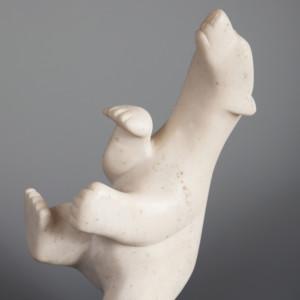 "Big Joyful Bear Ohito Ashoona Inuit Arctic marble 11"" x 5"" x 3"" $900"