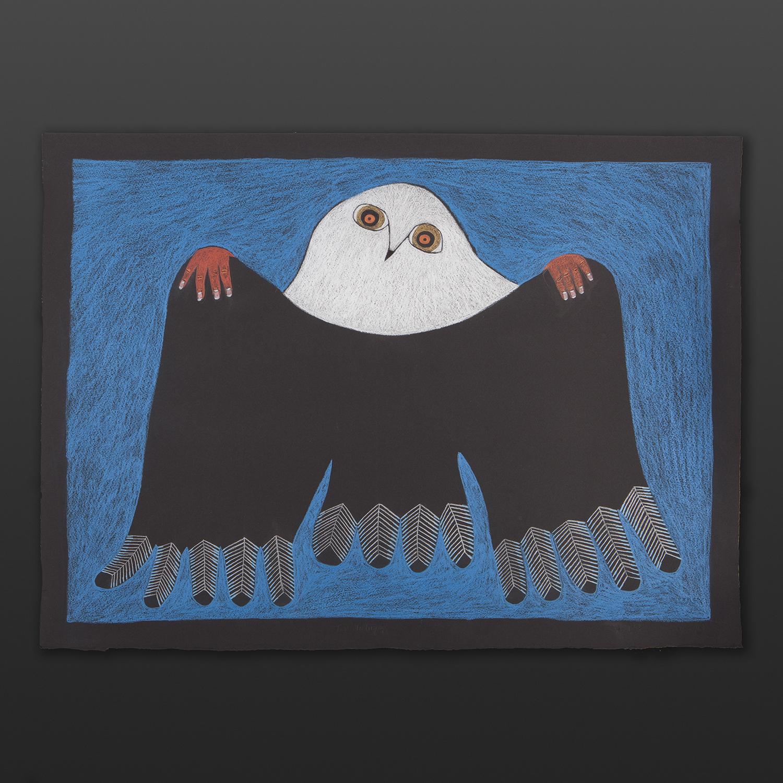 For Tulugak Ningeokuluk Teevee Inuit Graphite, colored pencil 30 x 22